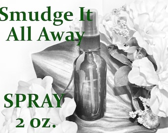 Smudge It Away SAGE SPRAY - 100% Hand-crafted with herbs and essential oils - Pagan Wicca Witchcraft