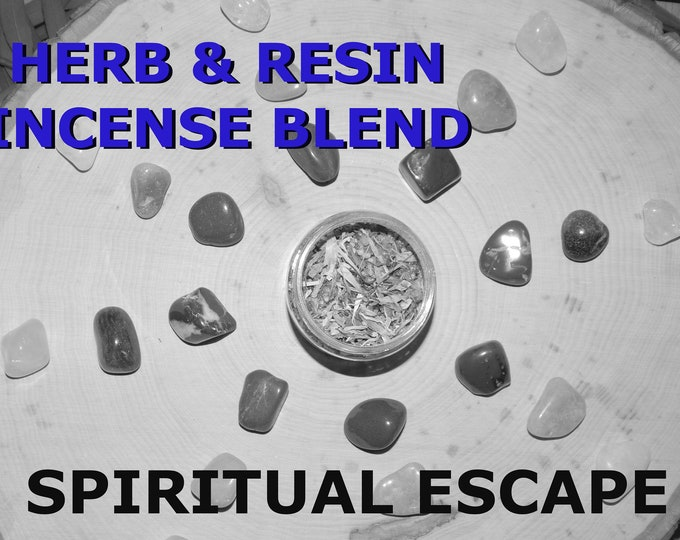 SPIRITUAL ESCAPE Herb and Resin Incense Blend 2 oz - Handmade ritual incense blend Dark Moon Pagan Wiccan Witchcraft Spirit offering