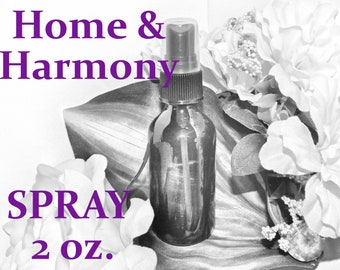 Home & Harmony SPRAY - 100% Hand-crafted with herbs and essential oils - Pagan Wicca Witchcraft