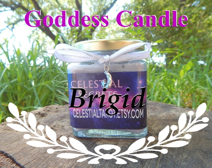 BRIGID Ritual Jar Candle, GODDESS Prayer candle - 100% Hand-crafted with soy wax, herbs and essential oils