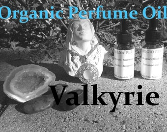 VALKYRIE Organic PERFUME OIL | Boho Collection, many sizes | handmade with essential oils crystal and herbs