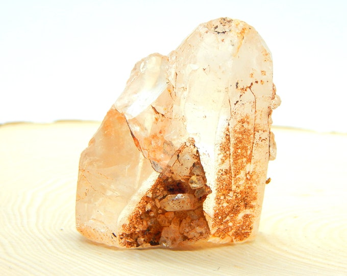 CHUNKY Tabular Tangerine Lemurian Quartz self healed natural rare crystal - 2.3 inch 94g for reiki application