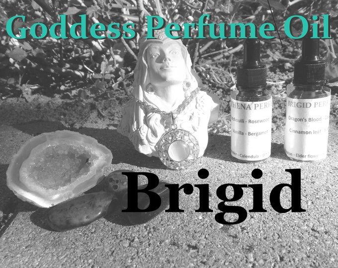BRIGID Goddess PERFUME OIL many sizes | for daily wear altar body anointing | High quality organic handmade with essential oils & herbs