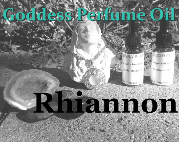 RHIANNON Goddess PERFUME OIL many sizes | for altar body anointing | High quality organic handmade with essential oils & herbs