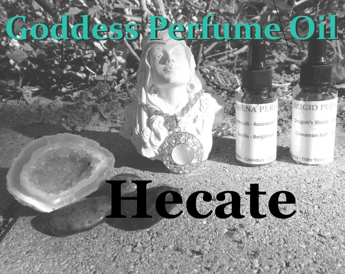 HECATE Goddess PERFUME OIL many sizes | for altar body anointing | High quality organic handmade with essential oils & herbs