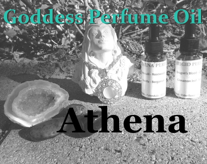 ATHENA Goddess PERFUME OIL many sizes | for altar body anointing | High quality organic handmade with essential oils & herbs