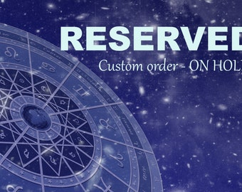RESERVED for V. - DUO Psy Vampire Brothers inspired vessel - Handcrafted Coral Tiger's Eye and Iolite pendant necklace
