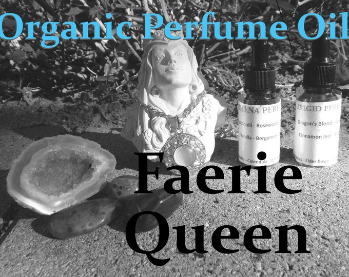 FAERIE QUEEN Organic Perfume Oil | Boho Collection, many sizes | handmade with essential oils crystal and herbs