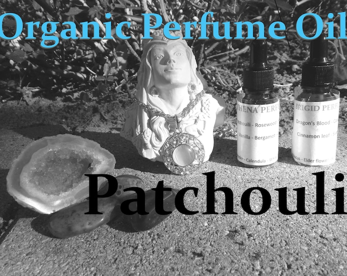 PATCHOULI Organic PERFUME OIL | Boho Collection, many sizes | handmade with essential oils crystal and herbs