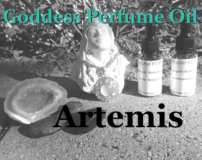ARTEMIS Goddess PERFUME OIL many sizes | for altar body anointing | High quality organic handmade with essential oils & herbs