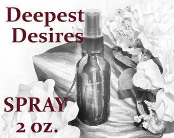 Deepest Desires SPRAY - 100% Hand-crafted with herbs and essential oils - Pagan Wicca Witchcraft