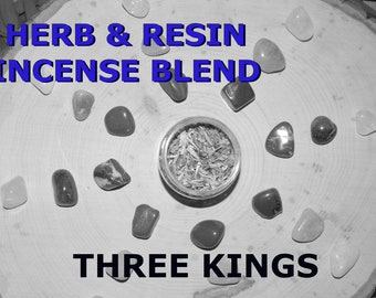 THREE KINGS Herb and Resin Incense Blend 2 oz - Handmade ritual incense blend Spiritual Pagan Wiccan Witchcraft Spirit offering