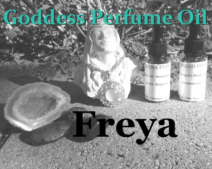FREYA Goddess PERFUME OIL many sizes | for altar body anointing | High quality organic handmade with essential oils & herbs
