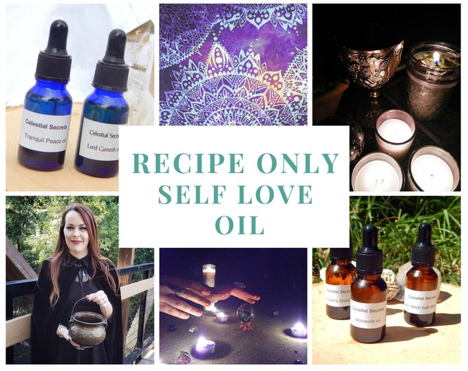 Self LOVE OIL recipe only BOS page .Docx file instant download - Pagan witchcraft diy for spellwork wicca wiccan book of shadows page