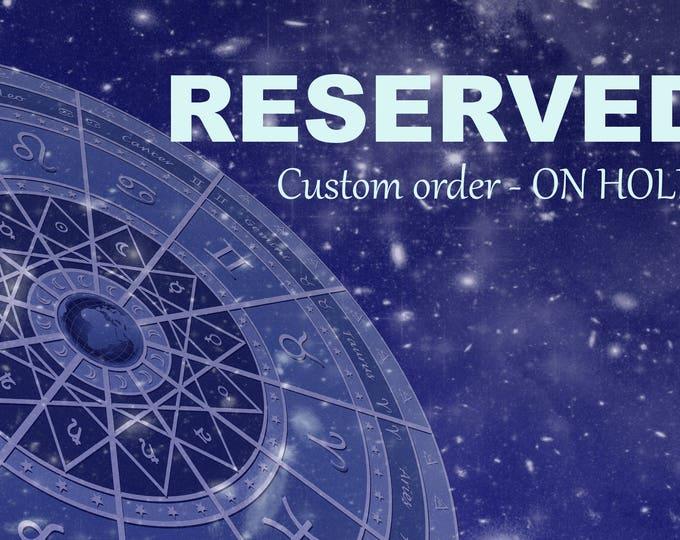 RESERVED for V. - High Council Ljosalfar Light Elf inspired vessel - Handcrafted Purple Turquoise pendant necklace