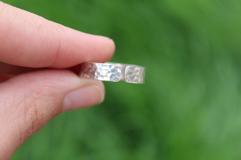 Hammered Adjustable Ring Sterling Silver Unisex ring SMLXL available