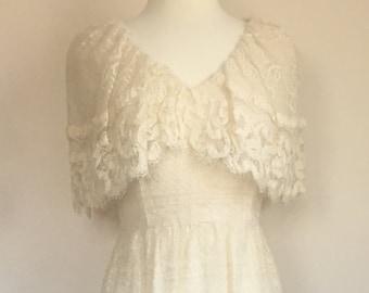 Vintage Lace Cream Dress