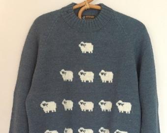 Vintage Wool Sheep Sweater