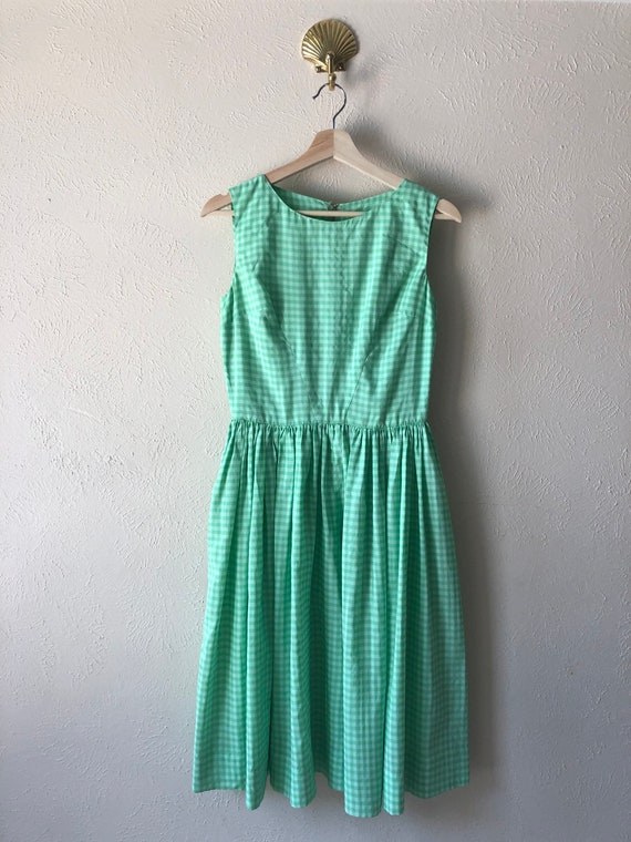 Vintage handmade gingham dress