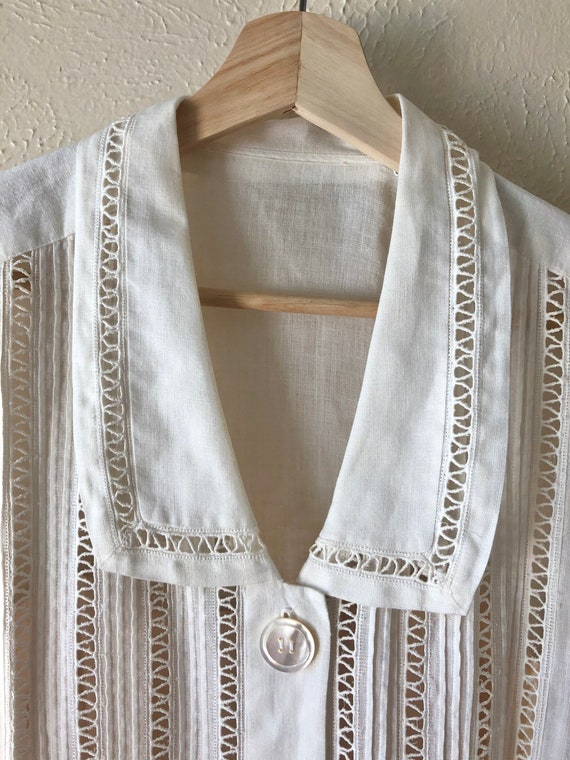 Vintage linen shirtdress