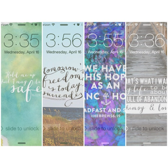 Four Inspirational Screensaverswallpaper Set 1 For Iphone 5