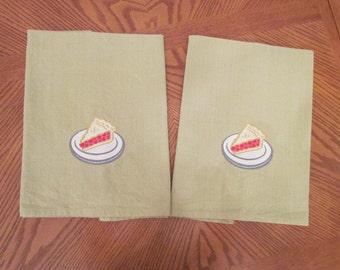 Cherry Pie towels  - set of 2