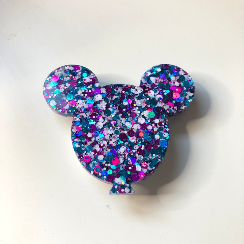 Pink and Turquoise Mouse Balloon Phone Grip