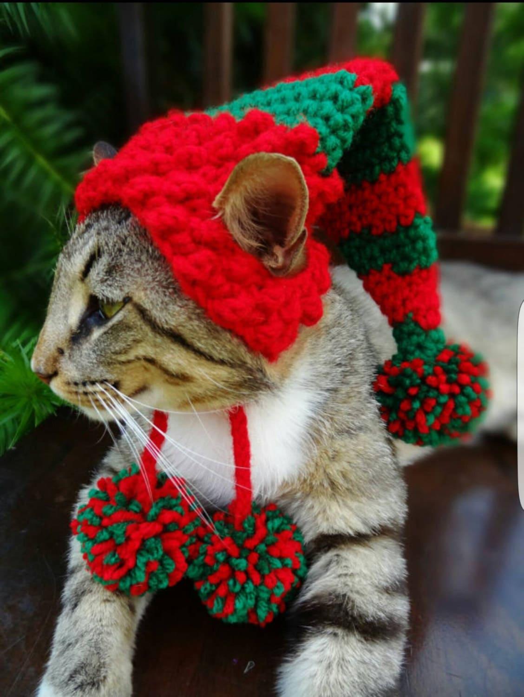 Elf Hat Crochet Pattern Cat Hat Crochet Pattern Christmas Etsy