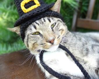 Pilgrim Cat Hat - Pilgrim Cat Dog Costume -  The Pilgrim's Cat Hat - Quaker Hat for Cats and Small Dogs - Thanksgiving Costume Pets