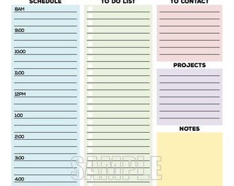 the office organizer planner page work planner office planner to do planner checklist daily weekly editable