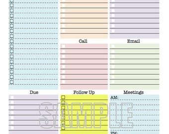 work day organizer planner page work planner printable planner to do list planner checklist daily weekly editable