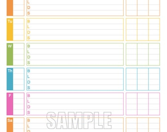 graphic about Printable Blood Glucose Log identified as Blood sugar log Etsy