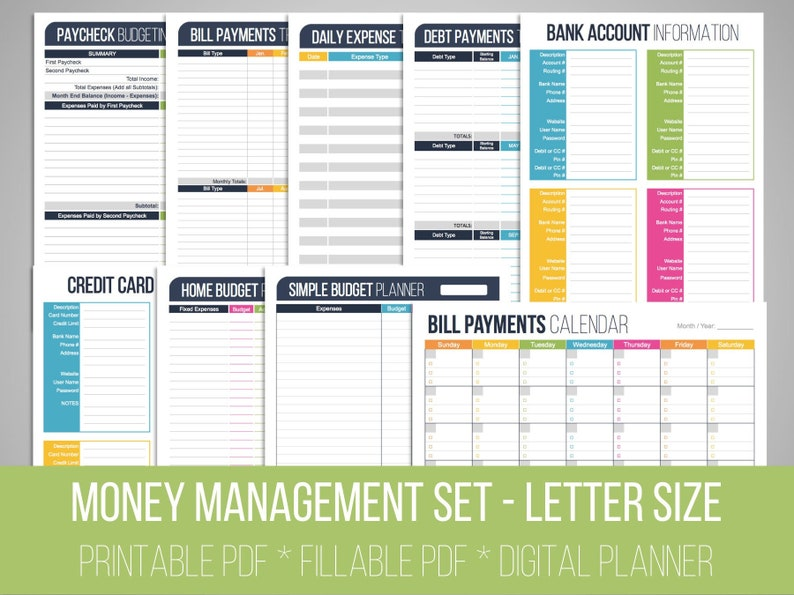 image about Printable Bill Organizer identify Fiscal Manage Fixed - Fillable, Economic Printables, Invoice Organizer, Income, Finances Planner, Record, Family Finance, Fast Obtain