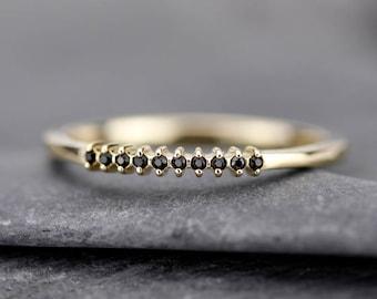 half eternity ring, eternity ring diamonds, black diamond ring, half eternity black diamonds, black diamonds eternity, wedding band diamonds