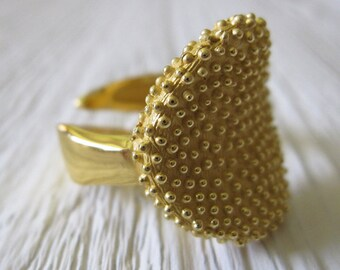 Gold Plated Ring Silver Ring, Adjustable ring, Adjustable Silver Ring, Round Ring, Geometric Ring Open Ring, Womens Ring, Statement Ring