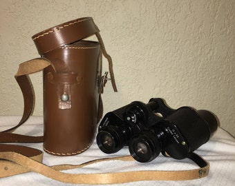 Vintage Binoculars with Leather Case.
