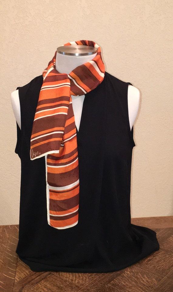 Vera Neumann Scarf. Striped Vera scarf. Vintage Br