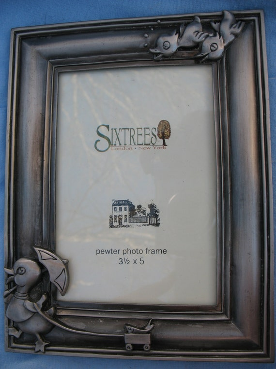 Sixtrees Pewter Duck Picture Frame Fits 35 X 5 Etsy