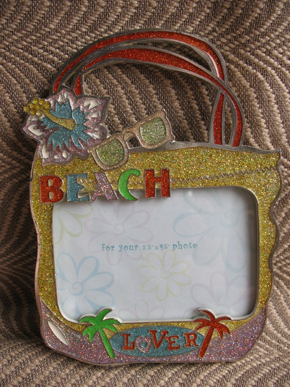 Sixtrees Beach Lover Picture Frame Circa 1990s Fits Etsy