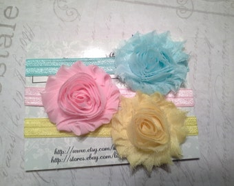 baby headbands, baby head band, headband set, easter headbands, pastel headbands, bow  headbands, baby shower gift, girls headbands