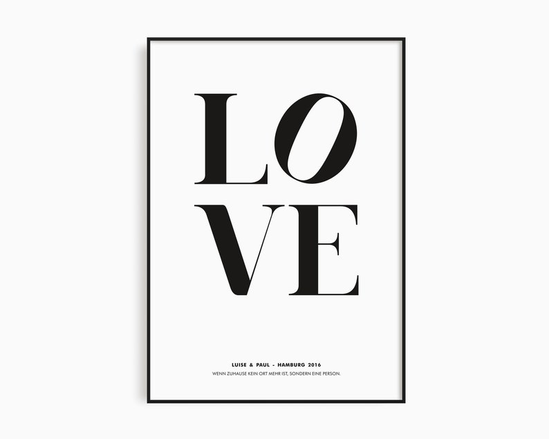 Poster Love Black and White Poster Gift For Couples Poster image 0