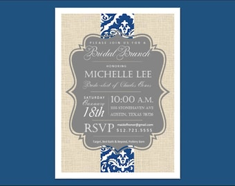 Bridal Shower // Wedding // Invitation.  Customizable digital download.