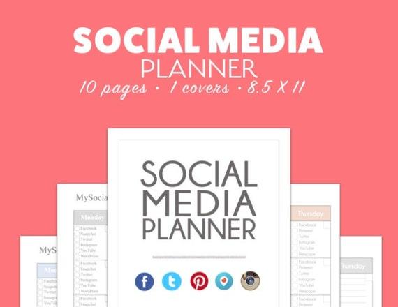 SOCIAL MEDIA Planner CALENDAR Calendar Tracker Pdf Download