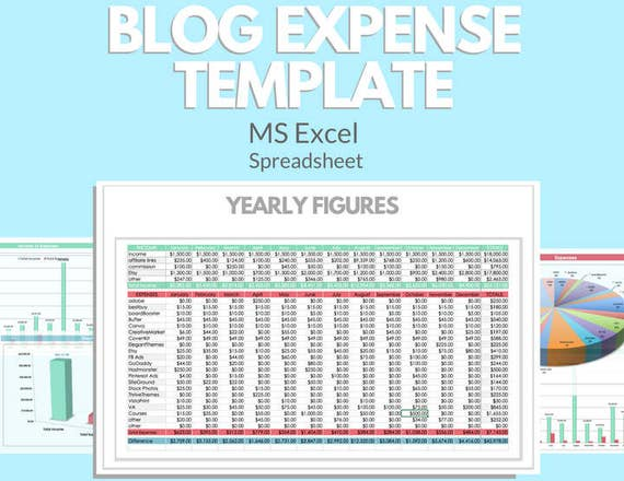 business blog excel template profit loss inventory expense etsy