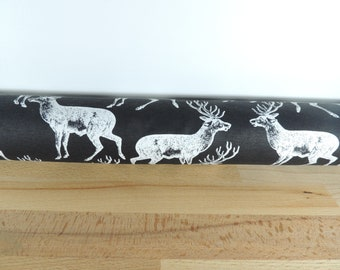 Woodland animal draft Stopper. Stag. Light blocker. Door or window snake. Draught excluder. House and home accessory. window draft stop.