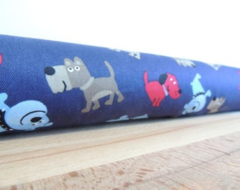 Dog draft stopper. Long door draft Stopper. Door or window snake. Draught excluder. House and home accessory.eco friendly energy saver.