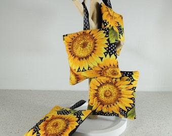 Sunflower lavender sachets. Hanging lavender bags. Perfumed Bag. Drawer sachets. Bath and beauty. Teacher gift.