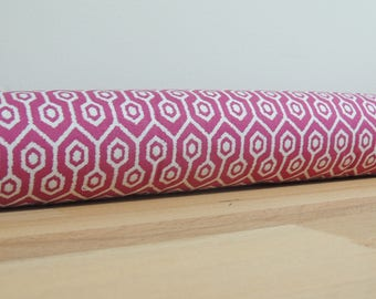 Pink door draft Stopper. Door or window snake. Draught excluder. House and home accessory.eco friendly energy saver