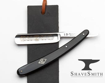 Premium Beginner's Straight Razor kit w/ Strop of Your Choice Featuring a Vintage Shave Ready Wusthof Straight Razor