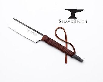Japanese Straight Razor kit with Strop. Featuring Shave Ready ShaveSmith Kamisori, Straight Handle Straight Razor